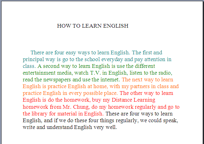 How to learn english essay in boston