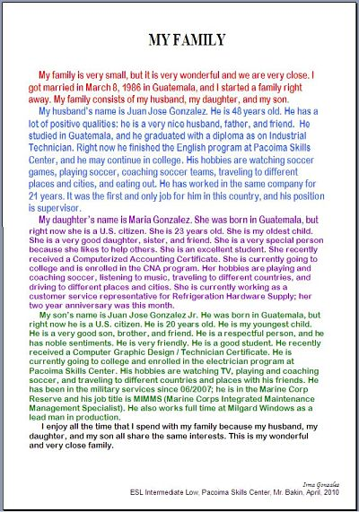 my family essay in mandarin My autobiography essay with different culture and dialect as well after six months, i can communicate with the family members of my employer in mandarin.